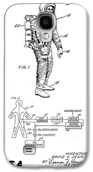 1967 Nasa Astronaut Ventilated Space Suit Patent Art 3 Galaxy S4 Case