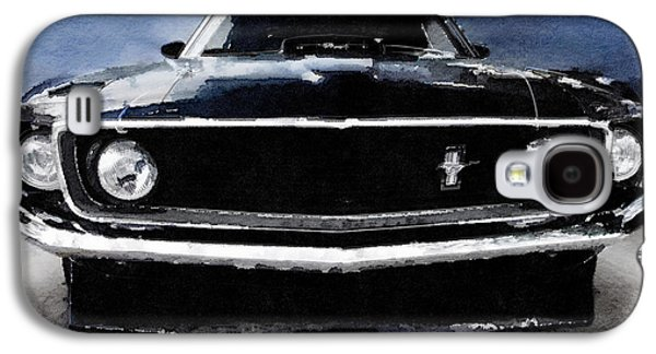 1968 Ford Mustang Shelby Front Watercolor Galaxy S4 Case by Naxart Studio