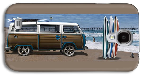 1970 Vw Bus Woody Galaxy S4 Case by Mike McGlothlen