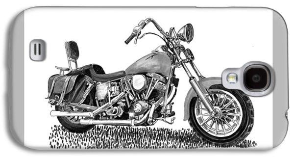 1971 Harley Davidson S O A Shovel Head F  L Galaxy S4 Case by Jack Pumphrey