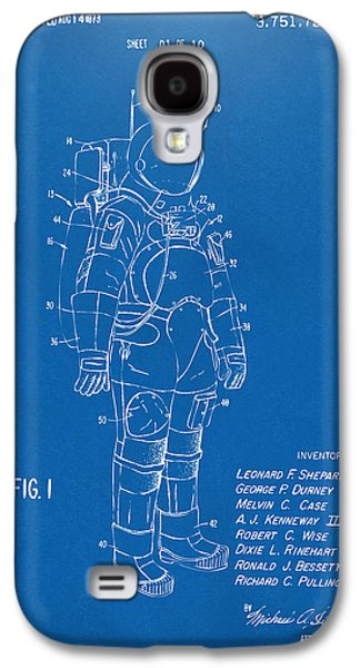 1973 Space Suit Patent Inventors Artwork - Blueprint Galaxy S4 Case