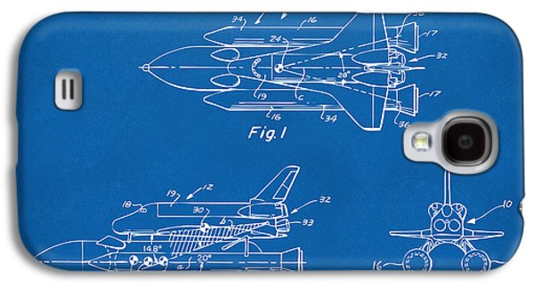 1975 Space Shuttle Patent - Blueprint Galaxy S4 Case by Nikki Marie Smith