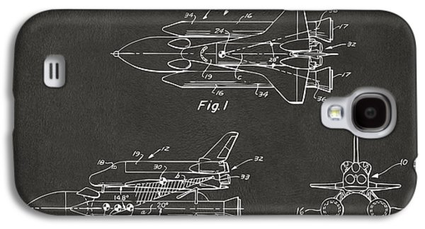 1975 Space Shuttle Patent - Gray Galaxy S4 Case by Nikki Marie Smith