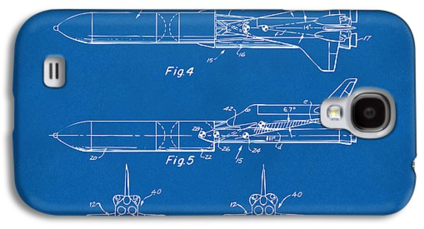 1975 Space Vehicle Patent - Blueprint Galaxy S4 Case by Nikki Marie Smith