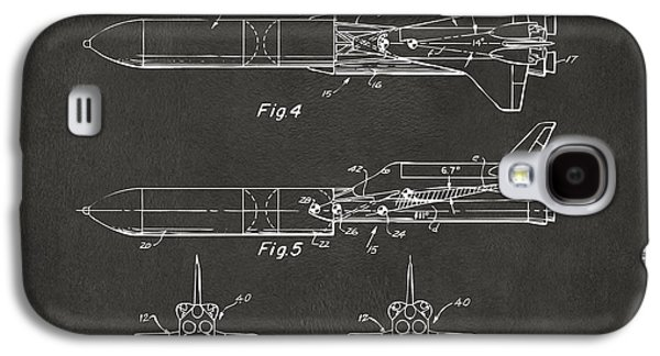 1975 Space Vehicle Patent - Gray Galaxy S4 Case by Nikki Marie Smith