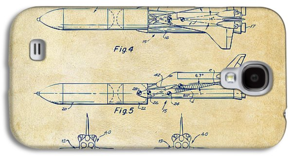 1975 Space Vehicle Patent - Vintage Galaxy S4 Case