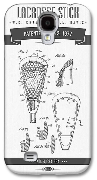 1977 Lacross Stick Patent Drawing - Retro Gray Galaxy S4 Case by Aged Pixel