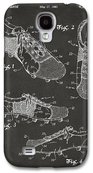 1980 Soccer Shoes Patent Artwork - Gray Galaxy S4 Case by Nikki Marie Smith