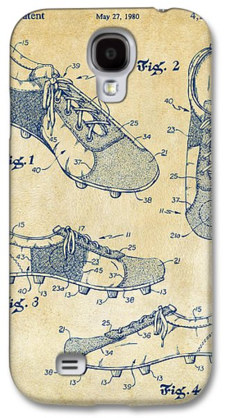 1980 Soccer Shoes Patent Artwork - Vintage Galaxy S4 Case by Nikki Marie Smith