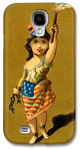 19th C. Lady Liberty  Galaxy S4 Case by Historic Image