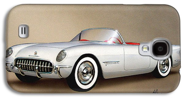 1953 Corvette Classic Vintage Sports Car Automotive Art Galaxy S4 Case