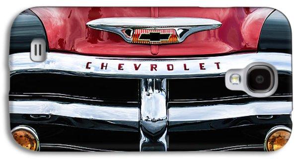 1955 Chevrolet 3100 Pickup Truck Grille Emblem Galaxy S4 Case by Jill Reger