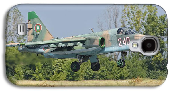A Bulgarian Air Force Su-25 Jet Galaxy S4 Case by Giovanni Colla