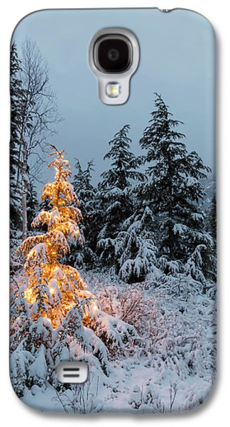 A Festive Mountain Hemlock Evergreen Galaxy S4 Case by Kevin Smith