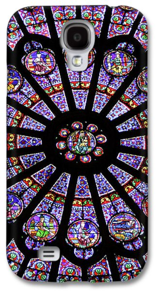 A Rose Window In Notre Dame Cathedral Galaxy S4 Case by William Sutton