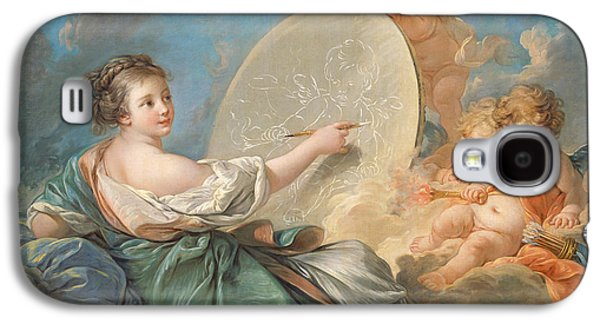 Allegory Of Painting Galaxy S4 Case by Francois Boucher