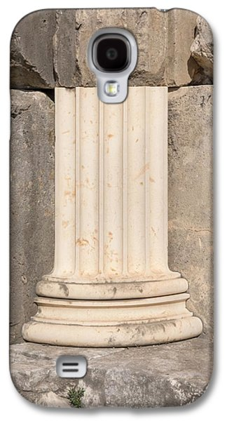 Anastylosis Of Temple Column At Letoon Galaxy S4 Case by David Parker