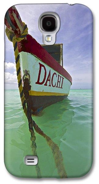 Anchored Colorful Fishing Boat Of Aruba II Galaxy S4 Case