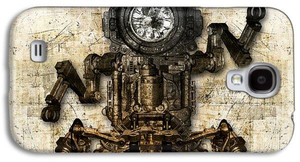 Antique Mechanical Figure Galaxy S4 Case
