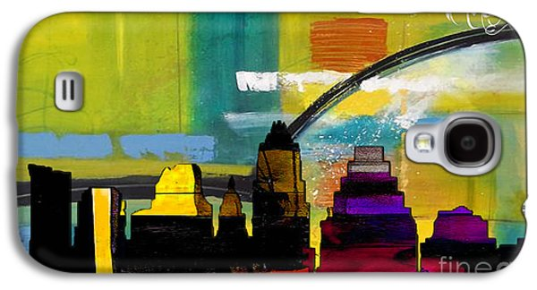 Austin Texas Skyline Watercolor Galaxy S4 Case