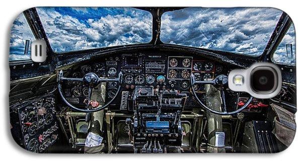 B-17 Cockpit Galaxy S4 Case by Mike Burgquist