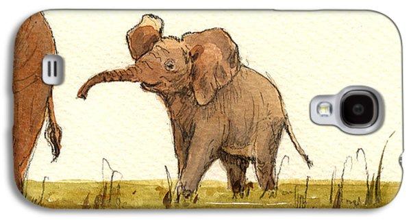 Baby Elephant Galaxy S4 Case by Juan  Bosco