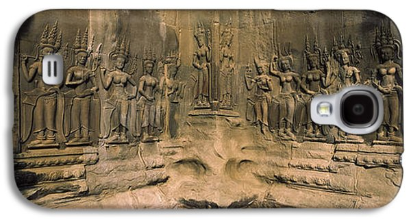 Bas Relief In A Temple, Angkor Wat Galaxy S4 Case by Panoramic Images