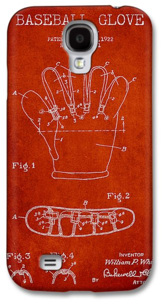 Baseball Glove Patent Drawing From 1922 Galaxy S4 Case