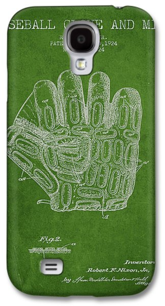 Softball Galaxy S4 Case - Baseball Glove Patent Drawing From 1924 by Aged Pixel