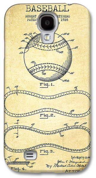 Baseball Bats Galaxy S4 Case - Baseball Patent Drawing From 1928 by Aged Pixel