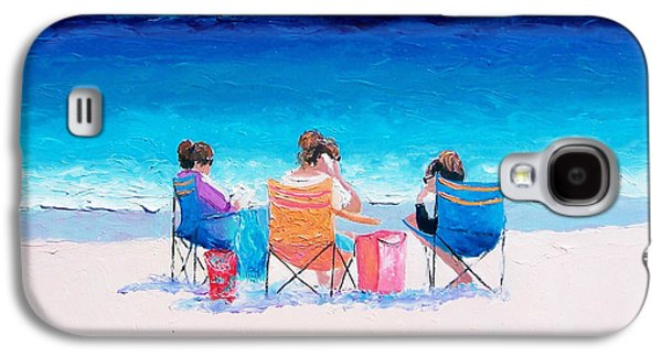 Beach Painting 'girl Friends' By Jan Matson Galaxy S4 Case