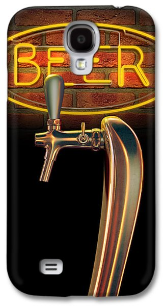 Beer Tap Single With Neon Sign Galaxy S4 Case by Allan Swart