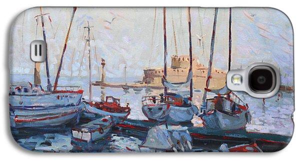 Boats In Rhodes Greece  Galaxy S4 Case by Ylli Haruni