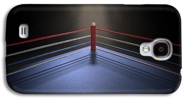 Boxing Corner Spotlit Dark Galaxy S4 Case by Allan Swart