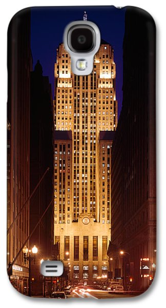 Buildings Lit Up At Night, Chicago Galaxy S4 Case by Panoramic Images