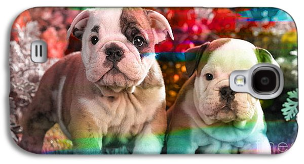 Bulldog Puppy Painting Galaxy S4 Case by Marvin Blaine