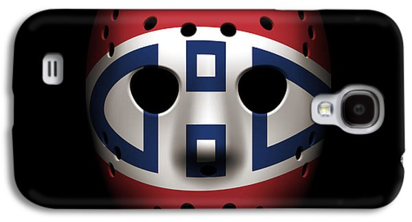 Canadiens Goalie Mask Galaxy S4 Case by Joe Hamilton