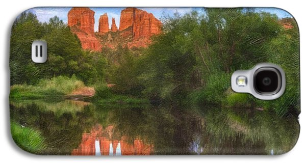 Cathedral Rock Reflection Galaxy S4 Case by Robert Jensen