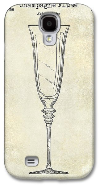 Champagne Flute Patent Drawing  Galaxy S4 Case by Jon Neidert