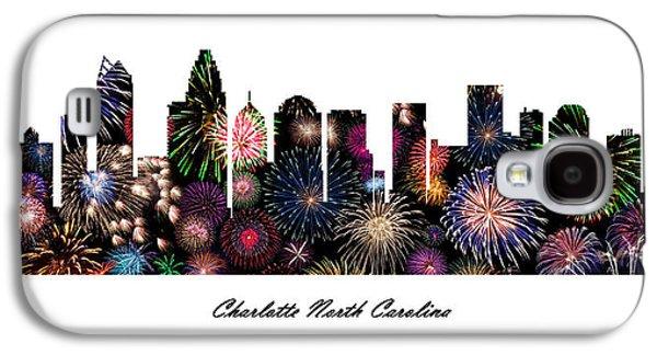 Charlotte North Carolina Fireworks Skyline Galaxy S4 Case by Gregory Murray