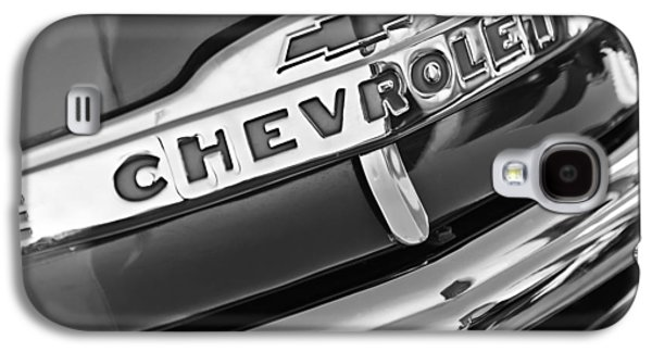Chevrolet Pickup Truck Grille Emblem Galaxy S4 Case by Jill Reger