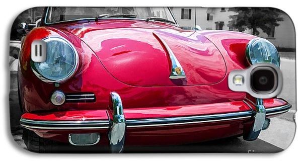 Classic Red P Sports Car Galaxy S4 Case by Edward Fielding