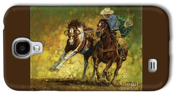Rodeo Pickup Galaxy S4 Case by Don  Langeneckert