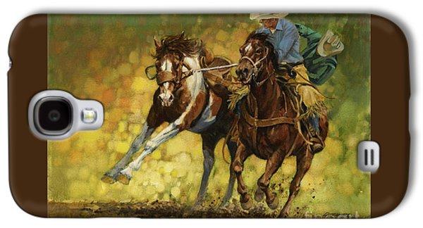 Rodeo Pickup Galaxy S4 Case by Don  Langeneckert