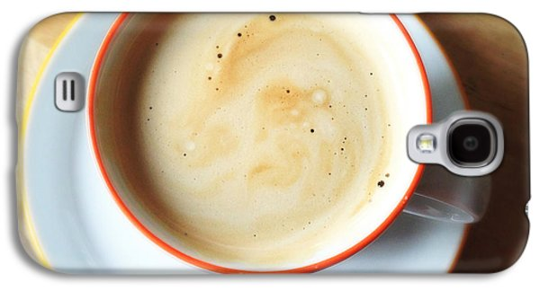 Orange Galaxy S4 Case - Cup Of Coffee by Matthias Hauser