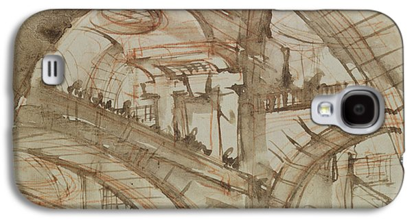 Drawing Of An Imaginary Prison Galaxy S4 Case by Giovanni Battista Piranesi