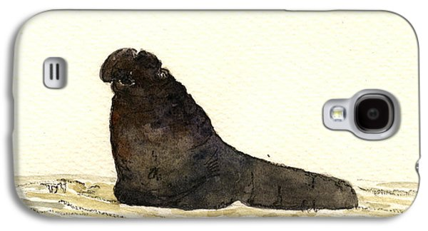 Elephant Seal Galaxy S4 Case by Juan  Bosco