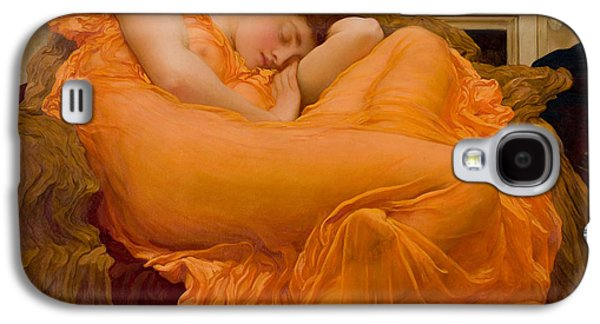 Flaming June Galaxy S4 Case by Frederick Leighton