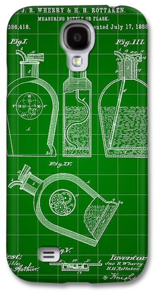 Flask Patent 1888 - Green Galaxy S4 Case by Stephen Younts
