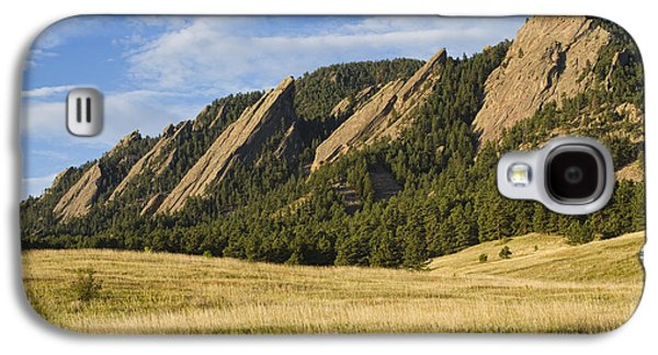Flatirons With Golden Grass Boulder Colorado Galaxy S4 Case